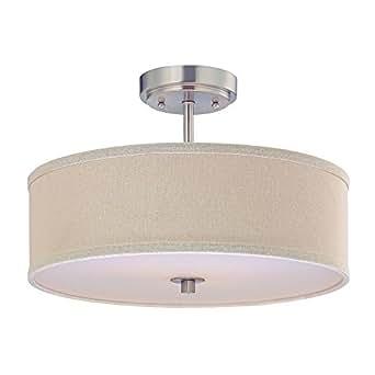 Cream semi flush ceiling light