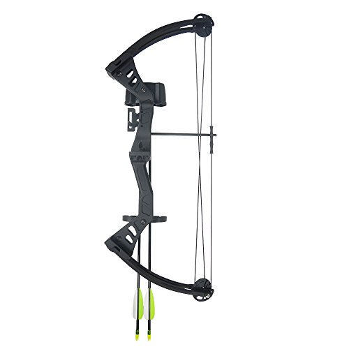 19-25-lb-Black-Green-Archery-Hunting-Compound-Bow-Quiver-Armguard-2-24-Arrows-Bolts-75-70-55-40-30-lbs-Crossbow