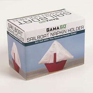 GAMAGO Sailboat Napkin Holder, Red