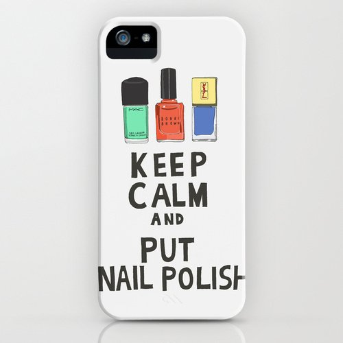 society6(ソサエティシックス)iPhone5/5sケースKeep calm and put nail polish並行輸入品 デザイナーズiPhoneケース