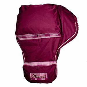 Kensington KPP Roustabout Western Saddle Cover, Plum with Plum Ice Plaid, One Size