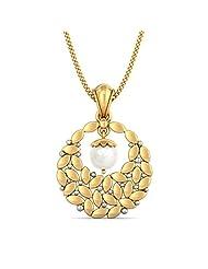 BlueStone 18K Yellow Gold Pearl Pendant - B00NHPD09S