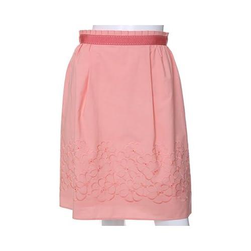 (エフデ)ef-de フラワー刺繍スカート チェリーピンク 07