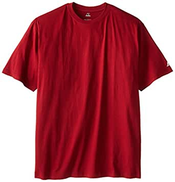 Russell athletic men 39 s big tall basic short sleeve solid for Big and tall athletic shirts