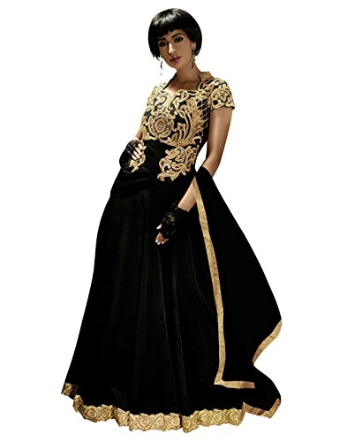 Yehii salwar suits for women stitched party wear Black Satin