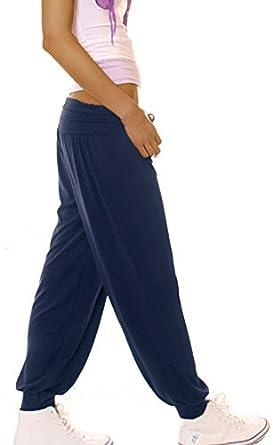 bestyledberlin Pantalon de sport femme jogging bouffant neuf T. 40/L - 42/XL sarouel, marine