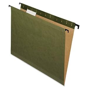 Pendaflex SureHook Reinforced Hanging Folder, Standard Green, Legal, 1/5 cut tabs, 20-Box