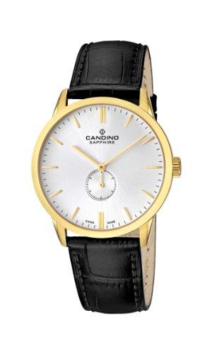 Candino C4471/1 - Reloj analógico de cuarzo para hombre con correa de piel, color negro