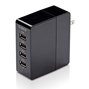 ORICO DCA-4U 4 port Travel Wall Charger for Apple iPad 2/New iPad 3/iPhone 5/4s/4/3Gs/Samsung Note