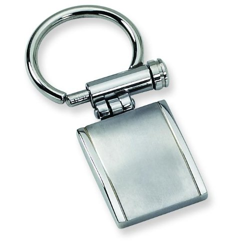 Chisel Stainless Steel Brushed Keychain