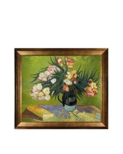 Vincent van Gogh Majolica Jar With Branches Of Oleander, 1888 Framed Hand-Painted Oil Reproduction