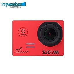 Video Camcorder, Itrendz Red Sj5000 Plus Wifi Sports Action Camera Sjcam Sj5000+ Water Resistant Helmet Head Video Camcorder