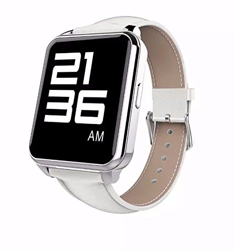 "Lincass F2 1.55"" IPS Screen Mtk2502 Smart Watch Life Waterproof Heart Rate Monitoring Smartwatch for IOS & Android (White)"