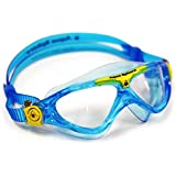 Aqua Sphere Vista Junior Swim Mask With Clear Lens, Bluewater/Yellow, One Size/Bluewater/Yellow