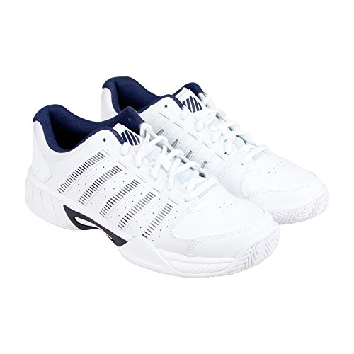 K-Swiss Men'S Express Leather Athletic, White/Navy, 10 M US