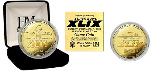 NFL Super Bowl 49 Gold Flip Coin (Nfl Super Bowl Trophy compare prices)