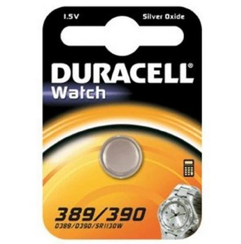 "DURACELL Lot de 5 Blists 1 Pile oxyde argent ""Watch"" SR54 389/390, 1,5 Volt"