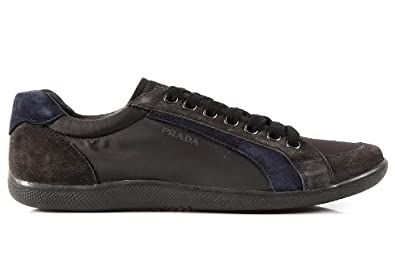 prada herren wildleder sneaker schuhe braun cod. Black Bedroom Furniture Sets. Home Design Ideas