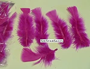 Ostrich Arrangement fillers--Fuchsia or Dark Pink Turkey Feathers-75/100 Pcs.-3