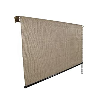 sunscreen fabric create deluxe exterior roller shade 95 uv block - Roll Up Shades
