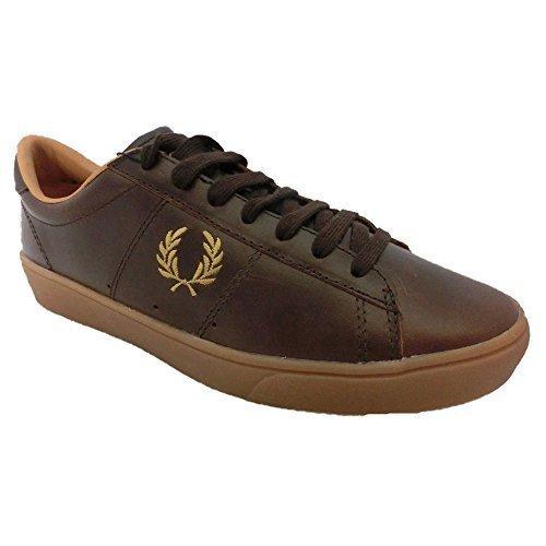 Fred Perry Scarpe Sneaker Uomo Spencer Leather B5248 325 dark Chocolate