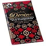 Divine Dark Chocolate with Raspberries 100g