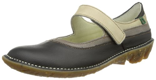 El Naturalista - Ballerine N002 GRAIN BLACK MIXED / SAVIA Donna, Nero (Schwarz (Black-Mixed)), 39
