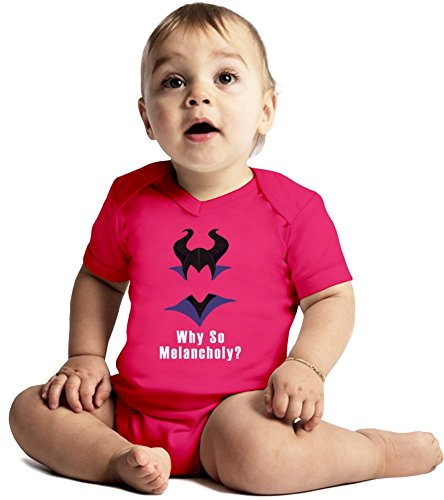 Why so Melancholy Amazing Quality Baby Bodysuit by True Fans Apparel - Made From 100% Organic Cotton- Super Soft V-Neck Style - Unisex Design- Perfect As A Present 12-18 months