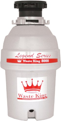 Waste King L-8000 Legend Series 1.0-Horsepower Continuous Feed Garbage Disposal