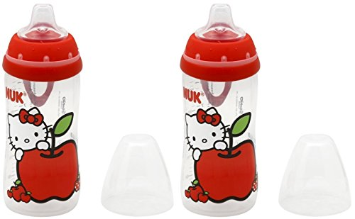 NUK Hello Kitty Silicone Spout Active Cup, 10-Ounce, 2 Count - 1