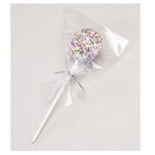Culpitt 50 palos para cake pops, 50 bolsas y 50 plateado corbatas