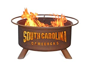 South Carolina Gamecocks Portable Steel Fire Pit Grill by Patina