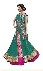 Designer Rama Colored Digital Printed Lhenga