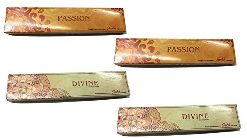 Shubh99 Incense Stick PASSION & DIVINE BOX 16CM Pack Of 4