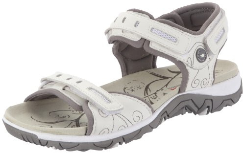 Allrounder by Mephisto LAGOONA S.LEATHER 30 / MESH 60 WHITE / WARM GREY Women's Sandals White Weià (WHITE / WARM GREY S.LEATHER 30 / MESH 60) Size: 4 (37 EU)