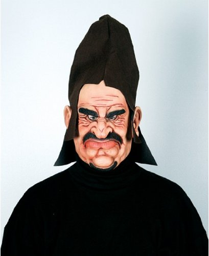 Morris Costumes Executioner Hooded Hordes Vinyl Mask W/ Fabric Hat Attached Hand Painted