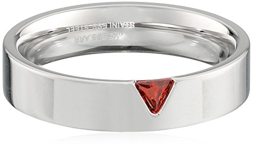 Men's Star Trek Stainless Steel Red Trillium Crystal Band, Size 7 (Star Trek Ring compare prices)