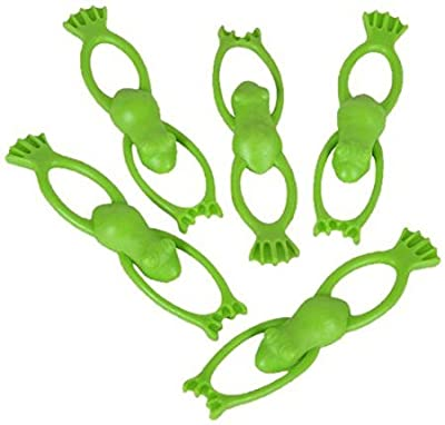 "Oriental Trading Stretchable Flying Slingshot Frogs, 3.5"" (1-Pack of 12)"
