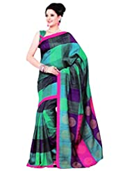 Saran's Exclusive Printed Art Silk Designer Saree