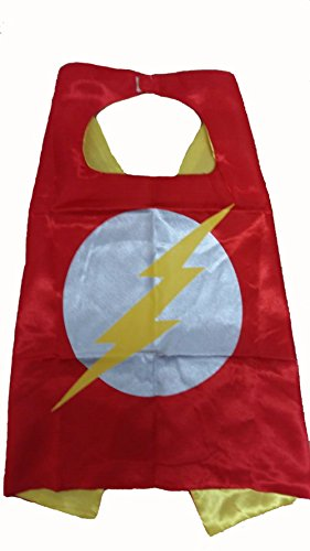 KeepworthSourcing Double Side 55*70CM Superhero capes for Kids Party Children Gifts Flash