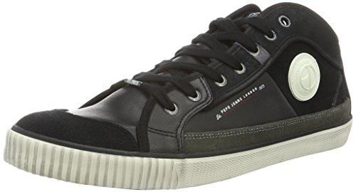 Pepe Jeans  Industry Half,  Sneaker uomo Nero Noir (999Black) 43