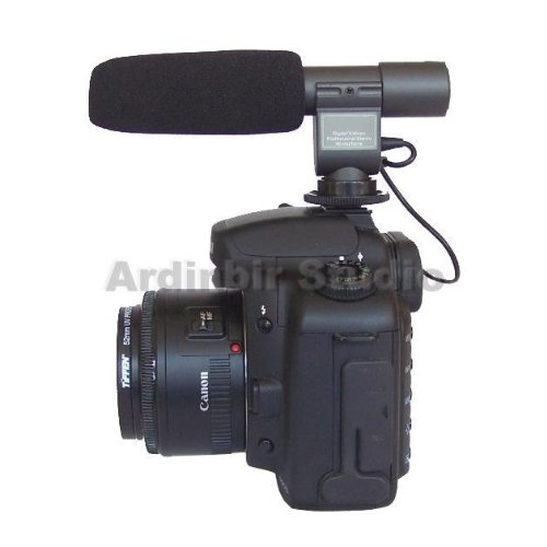 Stereo Video Shotgun Mic Microphone for Panasonic DMC-GH1, G2, G2K, G2R, G2A