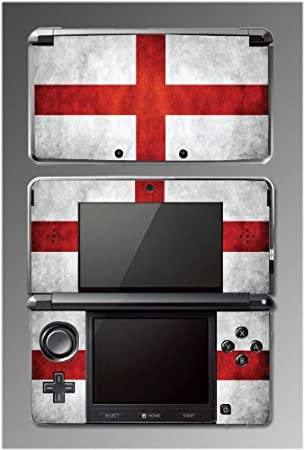 British Flag St George Cross Game Vinyl Decal Cover Skin Protector #2 for Nintendo 3DS