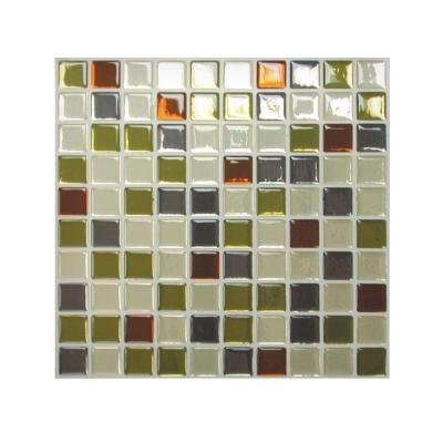 10 in. x 10 in. Peel and Stick Mosaic Decorative Wall Tile in Idaho (12-Piece)