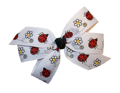 Webb Direct 2U Girls Ladybug Daisy Grosgrain Hair Bow On French Clip (5151Fc) front-558010