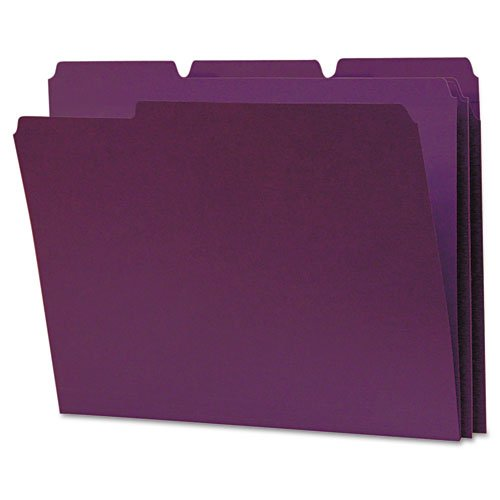 Legacy Products   Legacy   Colored File Folder, 1/3 Tab, Assorted, Letter, Violet/Light Violet, 100/Box   Sold As 1 Box   High quality; affordable price.   Two toned coloring bright exterior and dull interior.   Tear resistant, 11 point paperboard.