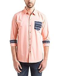 Prym Men's Casual Shirt (8907423052352_2011543604_X-Large_Orange)