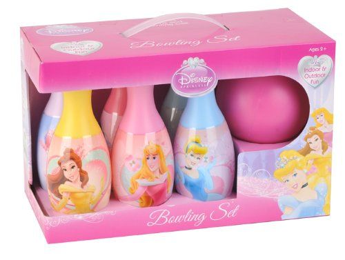 Princess Bowling Set in Display Box include 6 Pins and Bowling Ball and Princess Trifold Wallet Set aa130 bubble giant inflatable bowling pin and ball inflatable human bowling for adults and kids airtight inflatable bowling ball