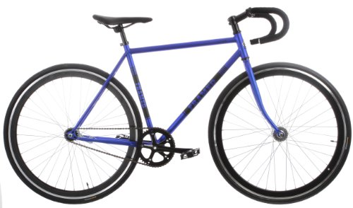 Framed Lifted Drop Bar Bike Single Speed Blue/Black 56cm
