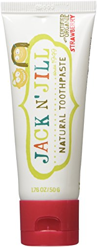 Jack N' Jill Natural Toothpaste Organic 50g, Set of 3 - Strawberry
